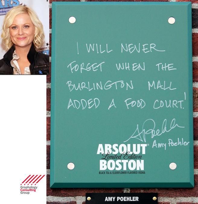 Amy Poehler's Handwriting