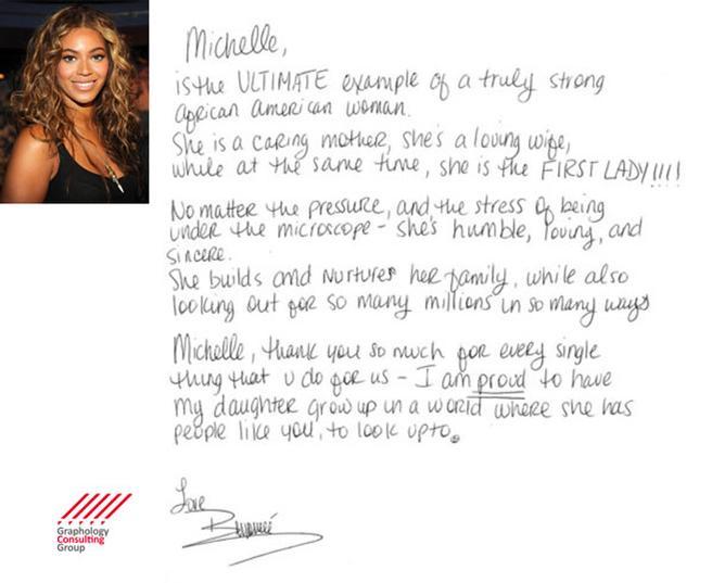 Beyonce Knowles: Handwriting Analysis